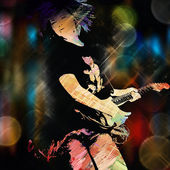 Fotografia chitarrista urbano