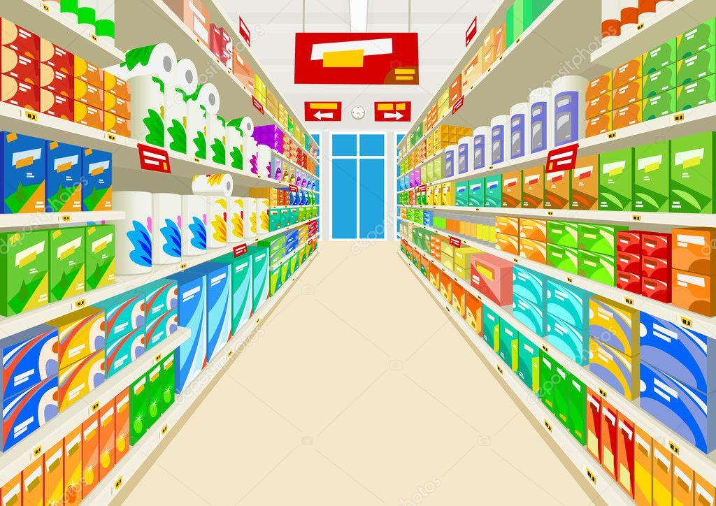 d63ffb36ab57 supermercado — Archivo Imágenes Vectoriales © Juric.P  44432351