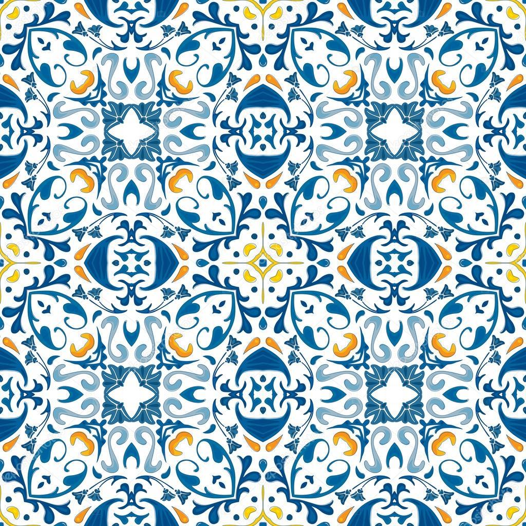 Azulejos Portugueses Vetor De Stock Nahhan 30040519