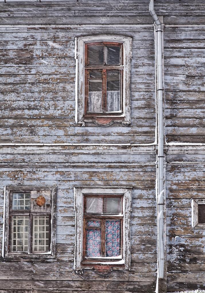 Run down wooden Riga house