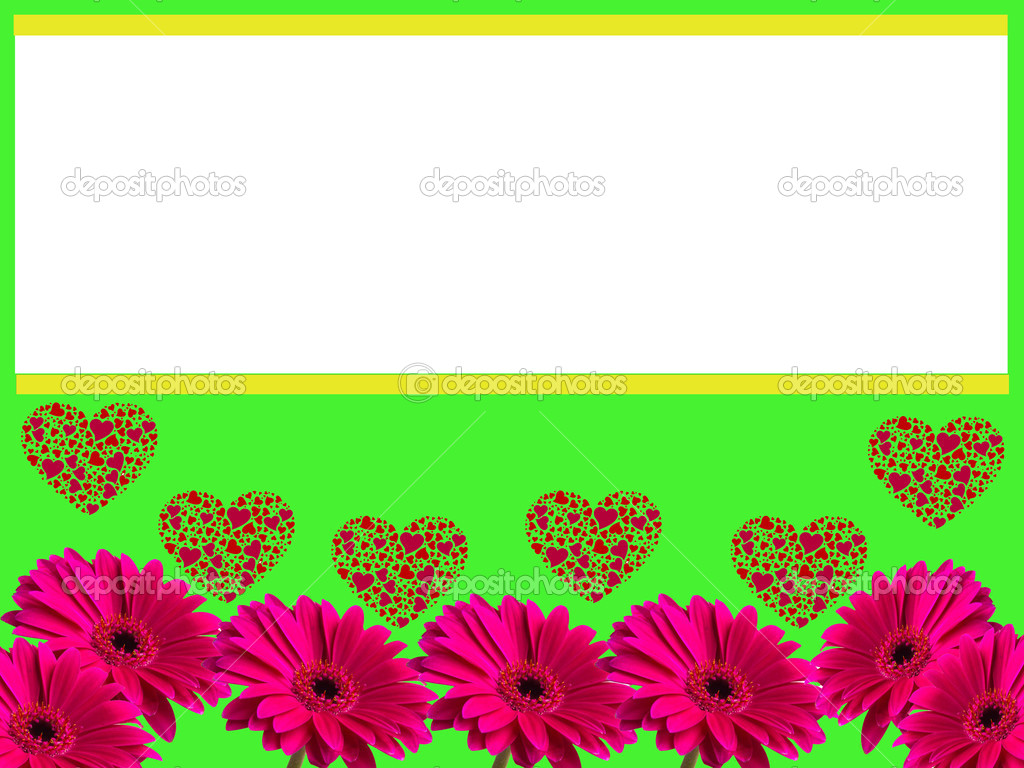 marco de amor de flor de gerbera — Foto de stock © #22180713