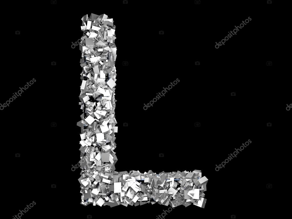 A Letter Formed Out Of Metallic Crystals Photo By Spectral