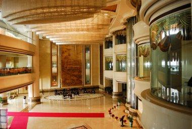 Luxury hotel lobby room interior