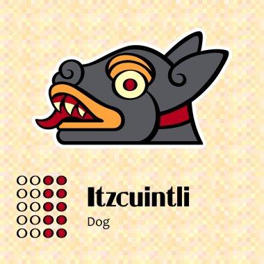 Aztec symbol Itzcuintli