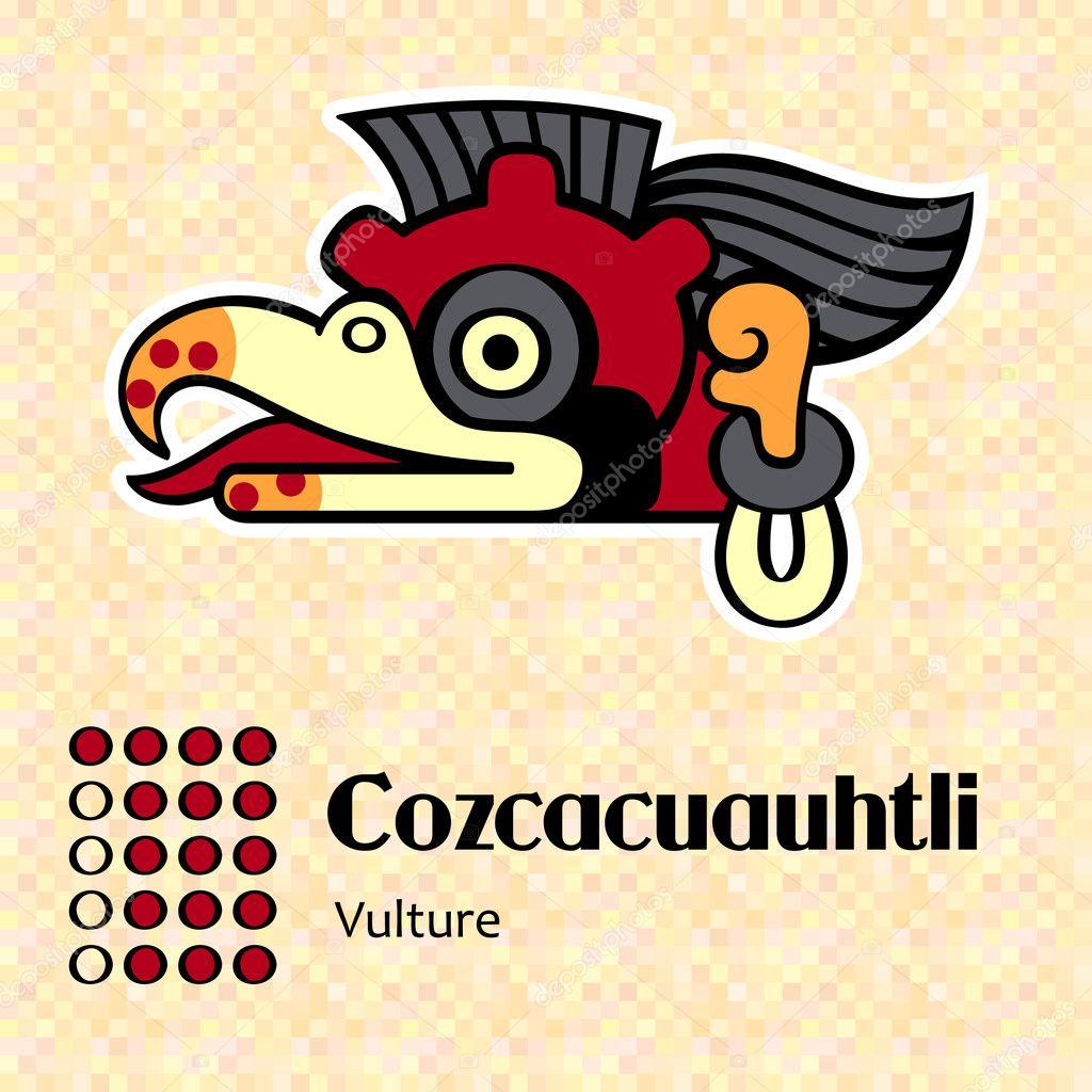 Aztec symbol Cozcacuauhtli