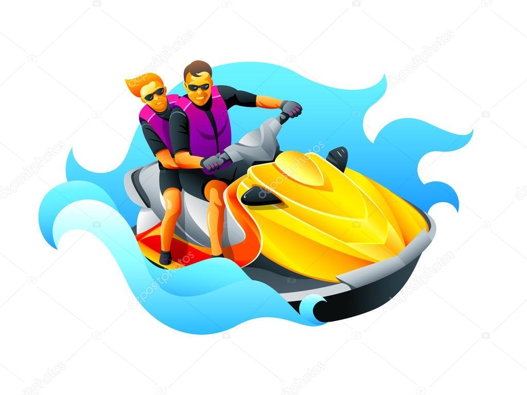 Riding Ski Jet Stock Vector C Sahuad 31468089