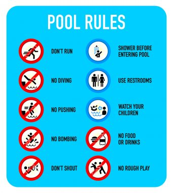Pool rules signs
