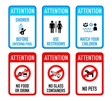 Pool signs, set II