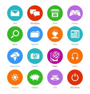 System flat icons - Set I