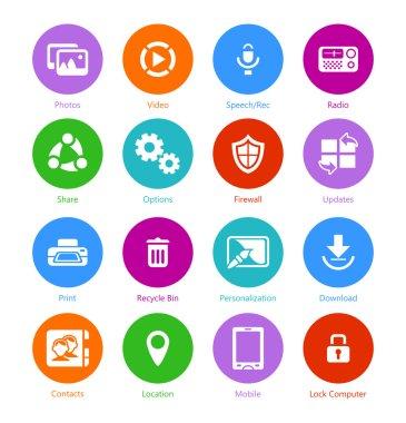 System flat icons - Set II