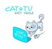 Fotografie Katze-tv-symbol