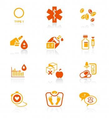 Diabetes icons - JUICY series