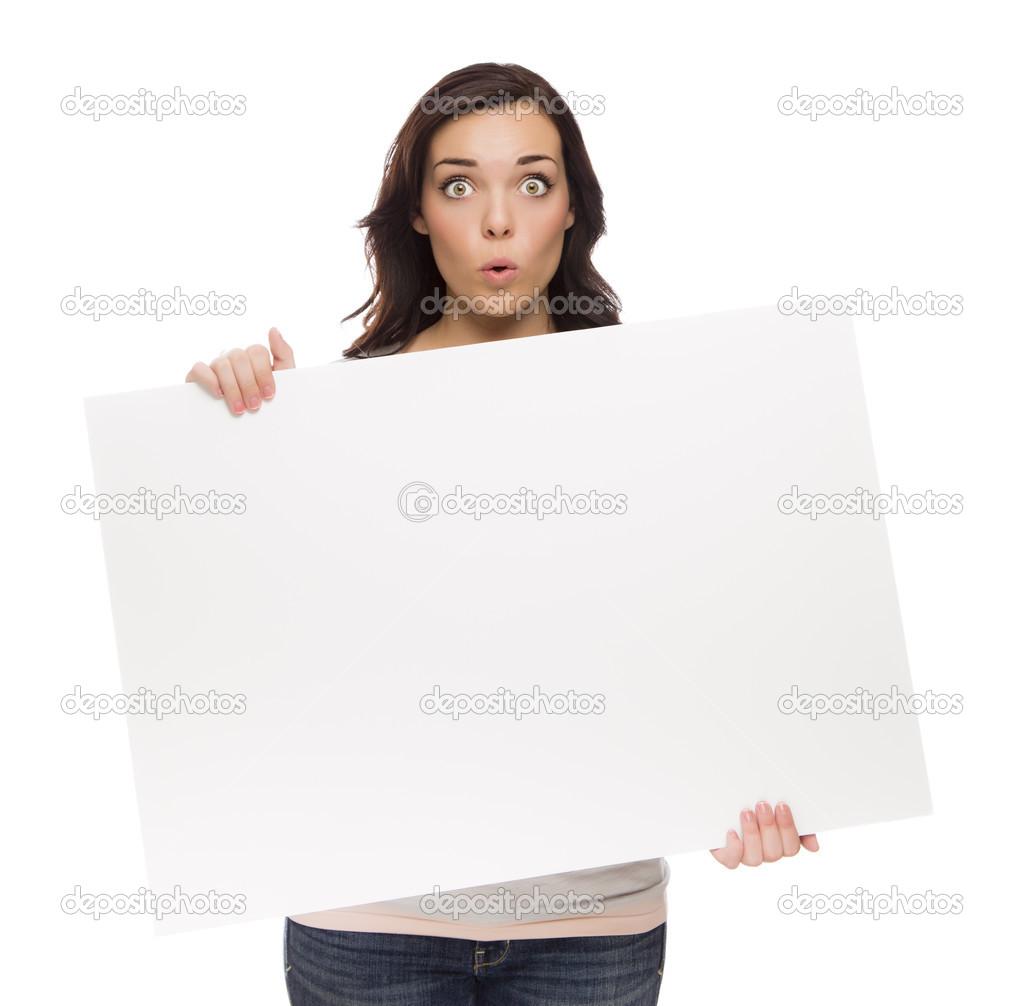 Картинки девушки с плакатами