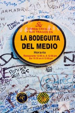 Sign at La Bodeguita del Nedio in Havana