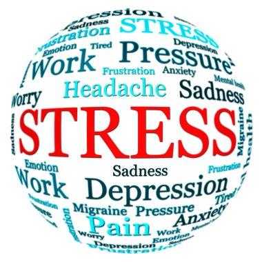 Stress related text arrangement