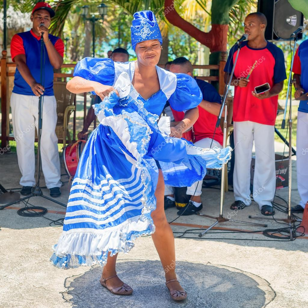 Afrocuban dancer and traditional music group
