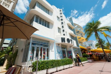 Art Deco architecture at Ocean Drive in South Beach, Miami