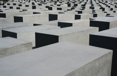 BERLIN - SEPTEMBER 18: The Memorial to the Murdered Jews of Europe on September 18, 2006 in Berlin, Germany. The site contains 2,711 concrete slabs and was designed by Peter Eisenman and Buro Happold.