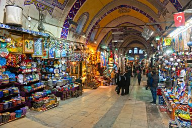 ISTANBUL - JANUARY 25,: the Grand Bazaar, considered to be the o