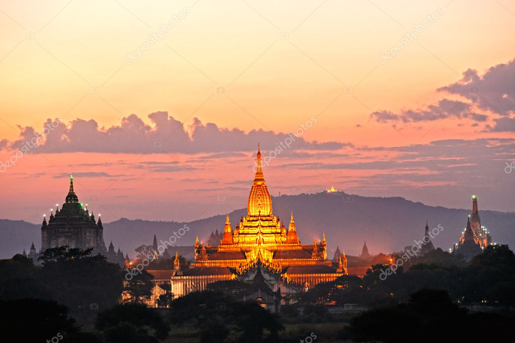 Bagan twilight, Myanmar.