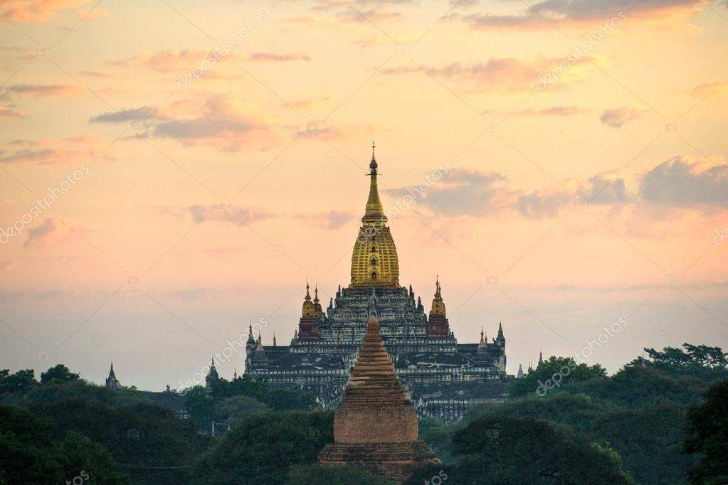 Bagan, Ananda Temple at Sunrise Myanmar.