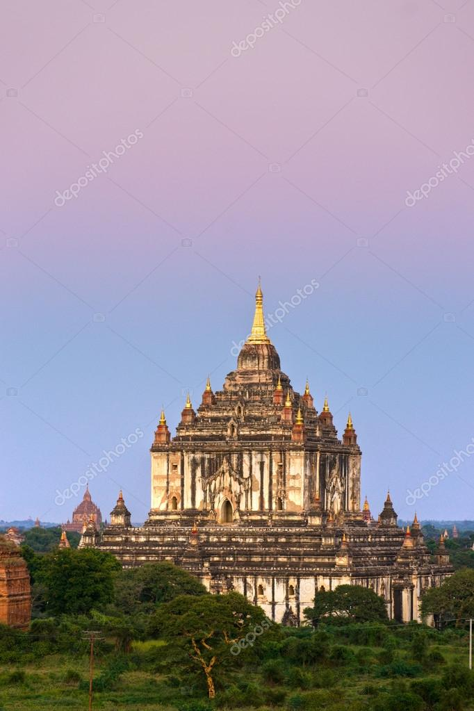 Thatbynniu temple, Bagan at Sunset, Myanmar.