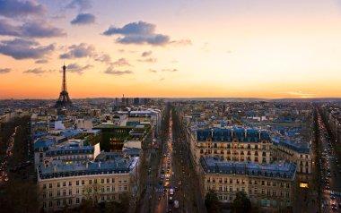 Eiffel tower at sunset, Paris.