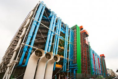 The Pompidou cultural center in Paris, France