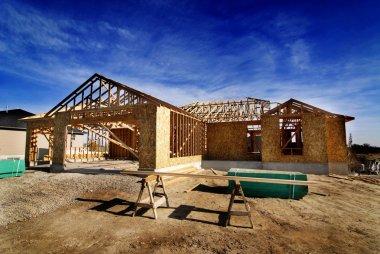 "Картина, постер, плакат, фотообои ""Строительство нового дома в развитии"", артикул 15019339"
