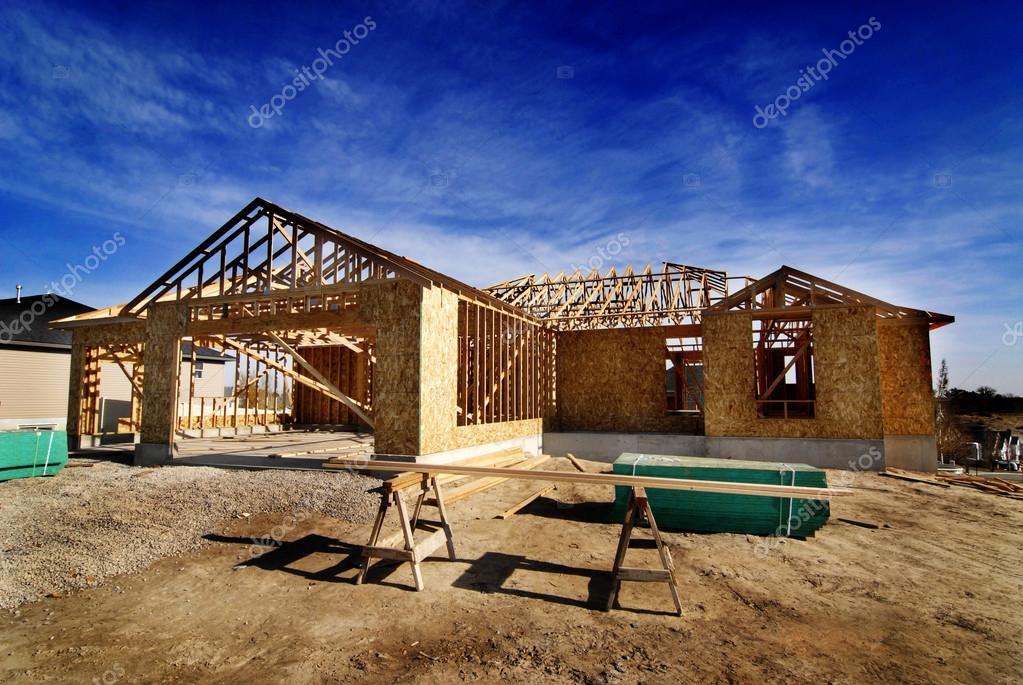 Construction of New Home in Development