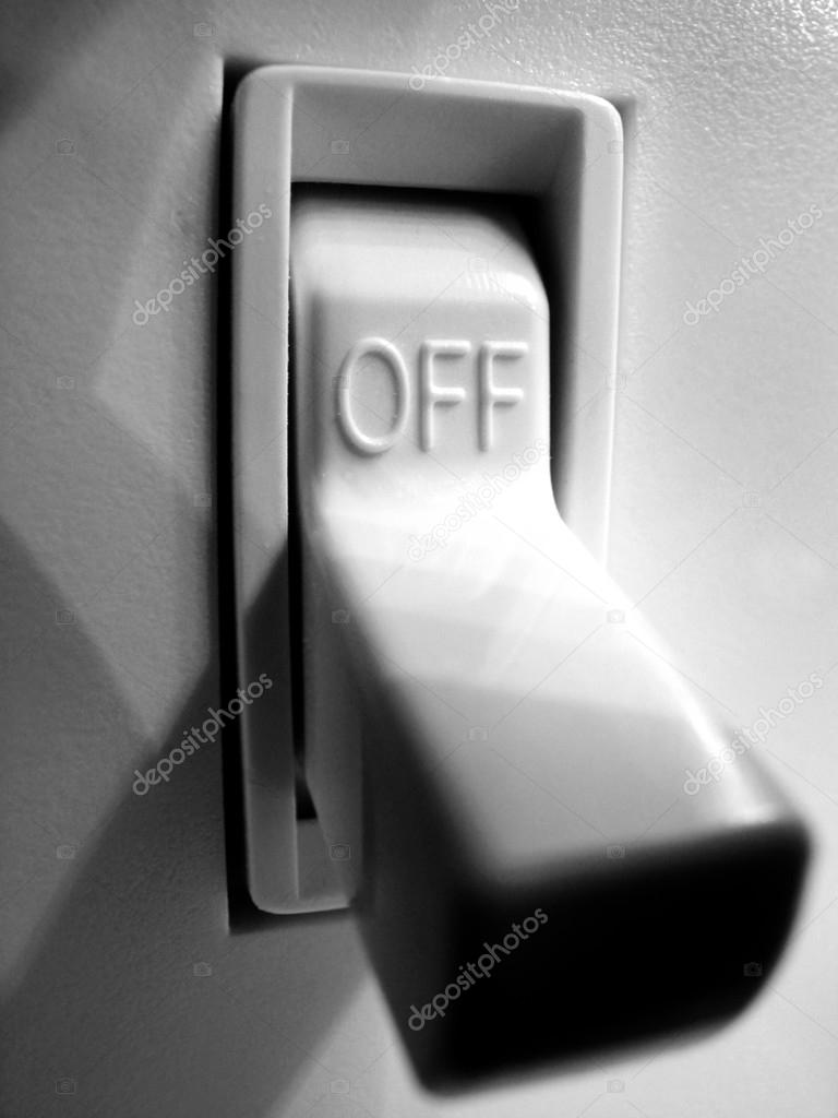 Light Switch Turned Off Stock Photo 28242025