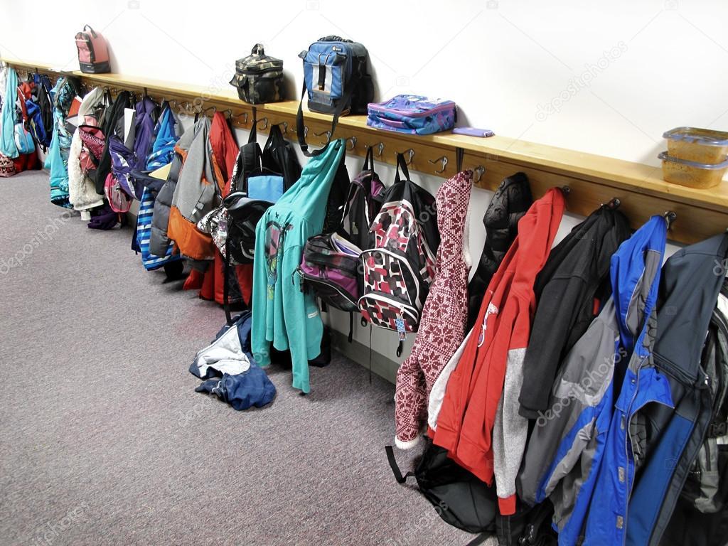 Coat Rack in School