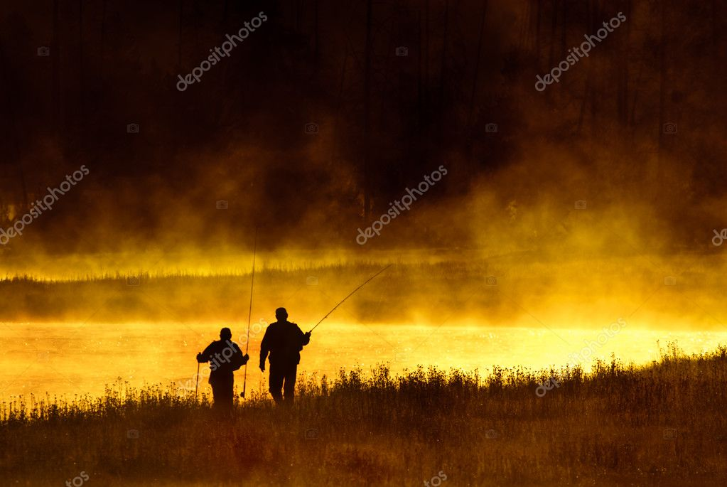 Fly Fishermen Madison River Yellowstone National Park