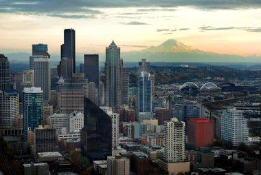 Seattle Skyline with Mount Ranier