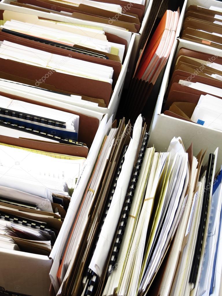 Geschaftsdateien In Kisten Und Ordnern Stockfoto C Eric1513 38494087