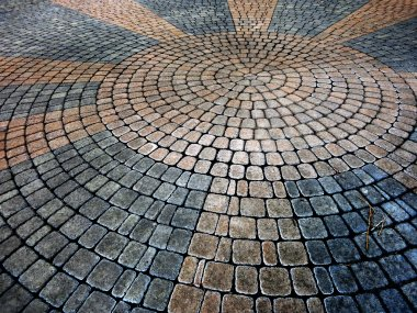 Cobble Stone Circle Pattern