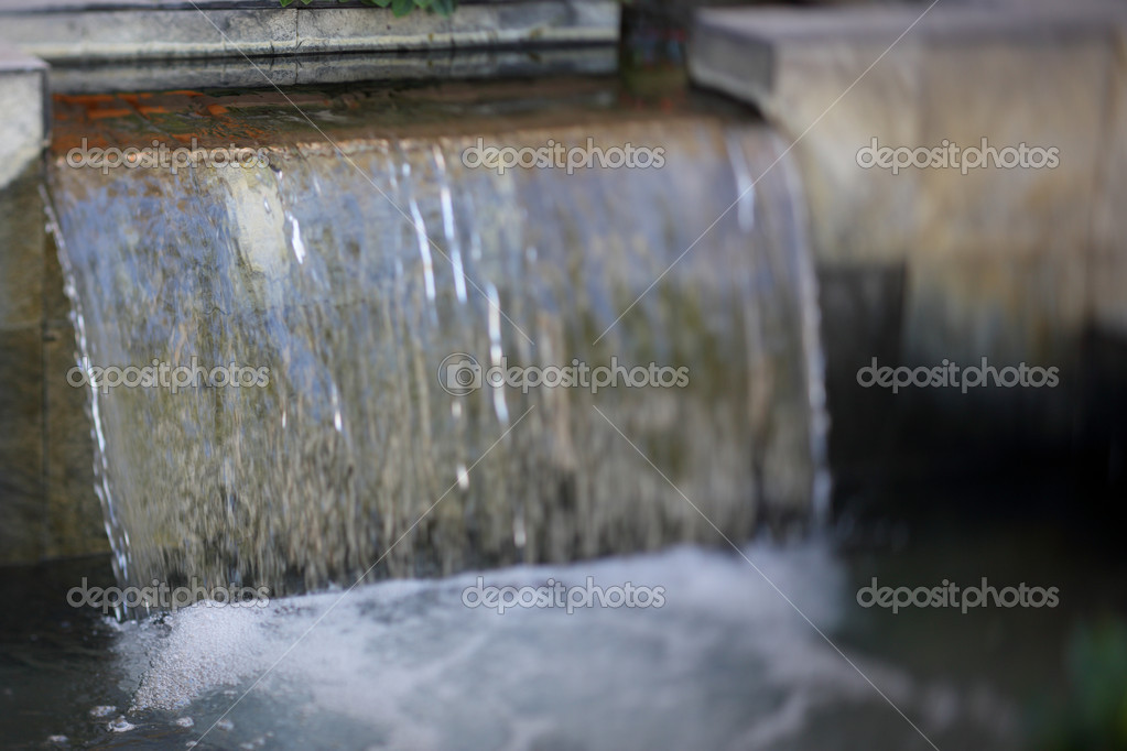 Zen Garden Waterfall U2014 Stock Photo