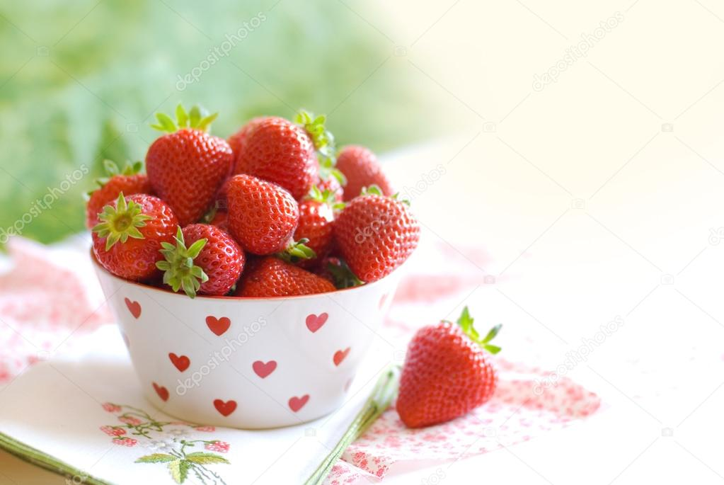 Cup with strawberries