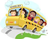 Stickman školní autobus