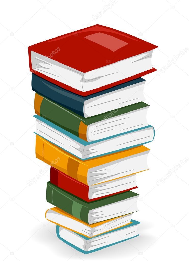 Bücherstapel clipart  Stockfoto #13604753