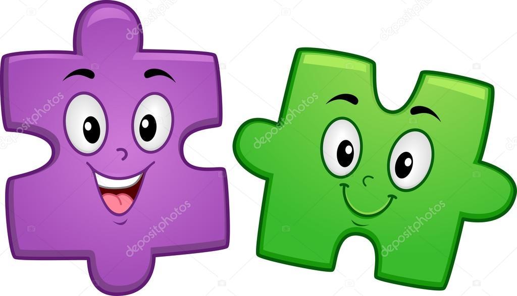 Puzzle Mascot — Stock Photo © lenmdp #16348391