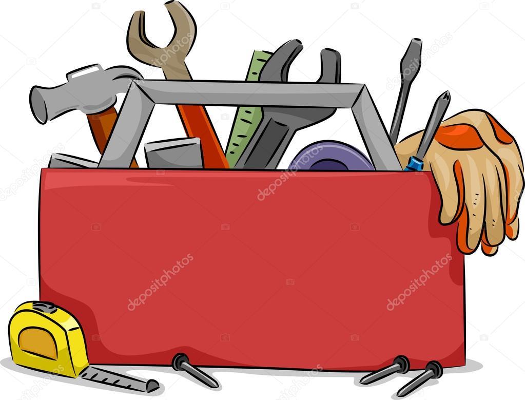 Tablero en blanco de la caja de herramienta fotos de - Tablero para herramientas ...