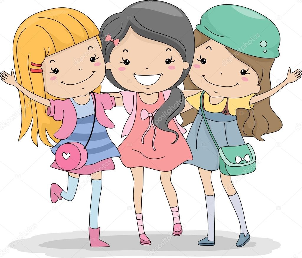 86 3 best friends clipart  Public domain vectors