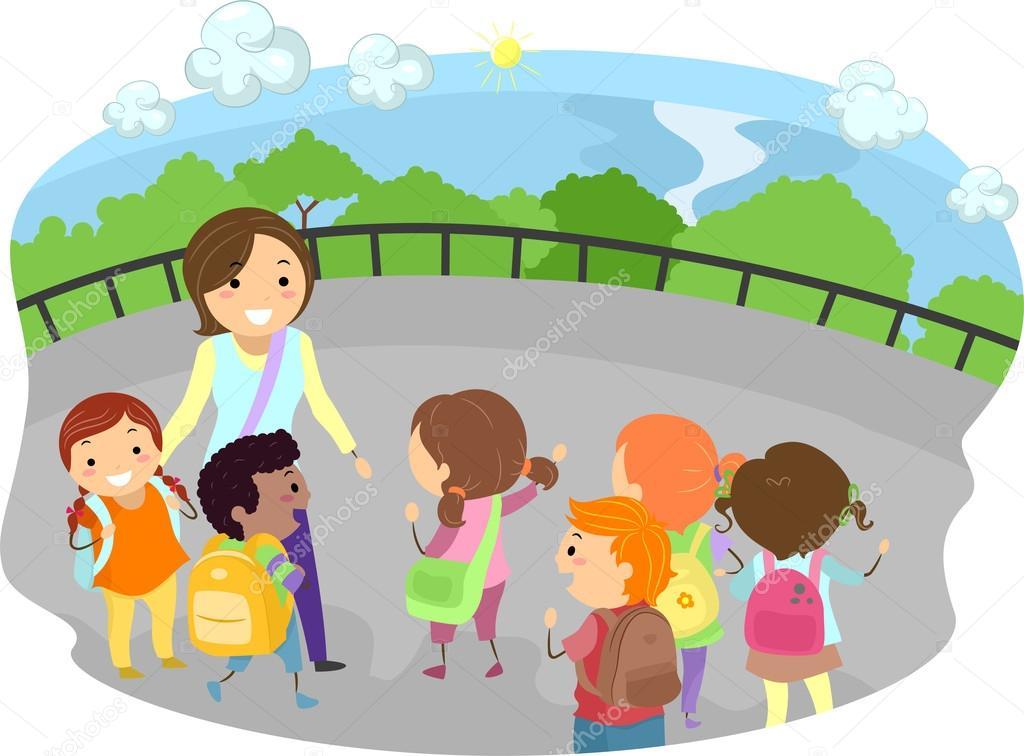 Картинка воспитатель и дети в природе