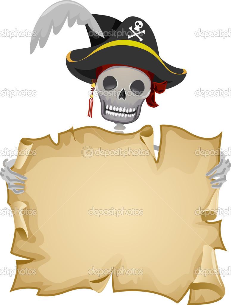 Pirate Scroll Frame — Stock Photo © lenmdp #23303988