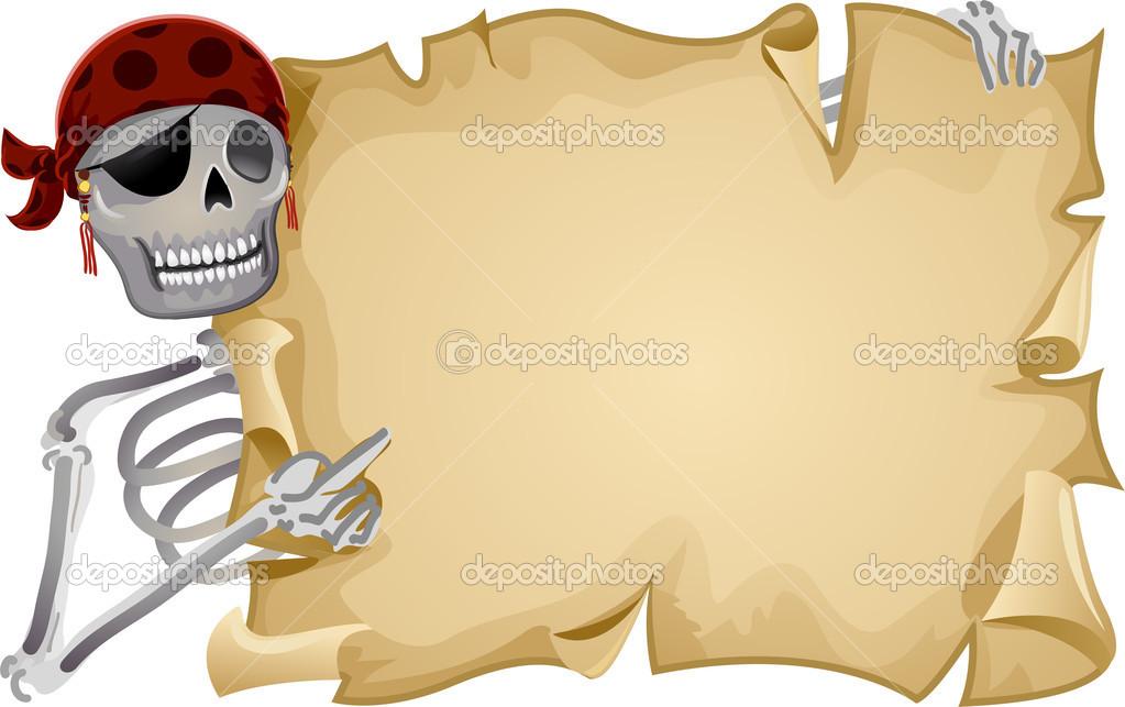 Pirate Scroll Frame — Stock Photo © lenmdp #23304008