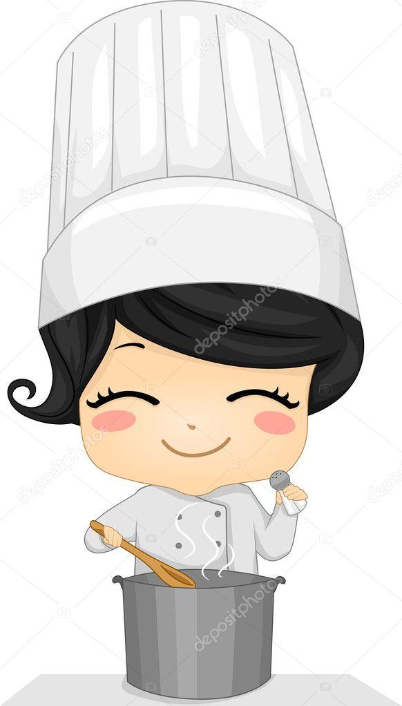 Ni a chef fotos de stock lenmdp 26419925 - Nina cocinando ...