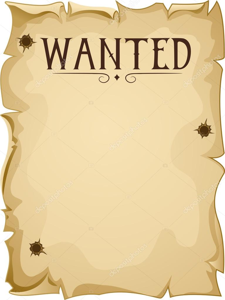 blank wanted poster  u2014 stock photo  u00a9 lenmdp  26420985