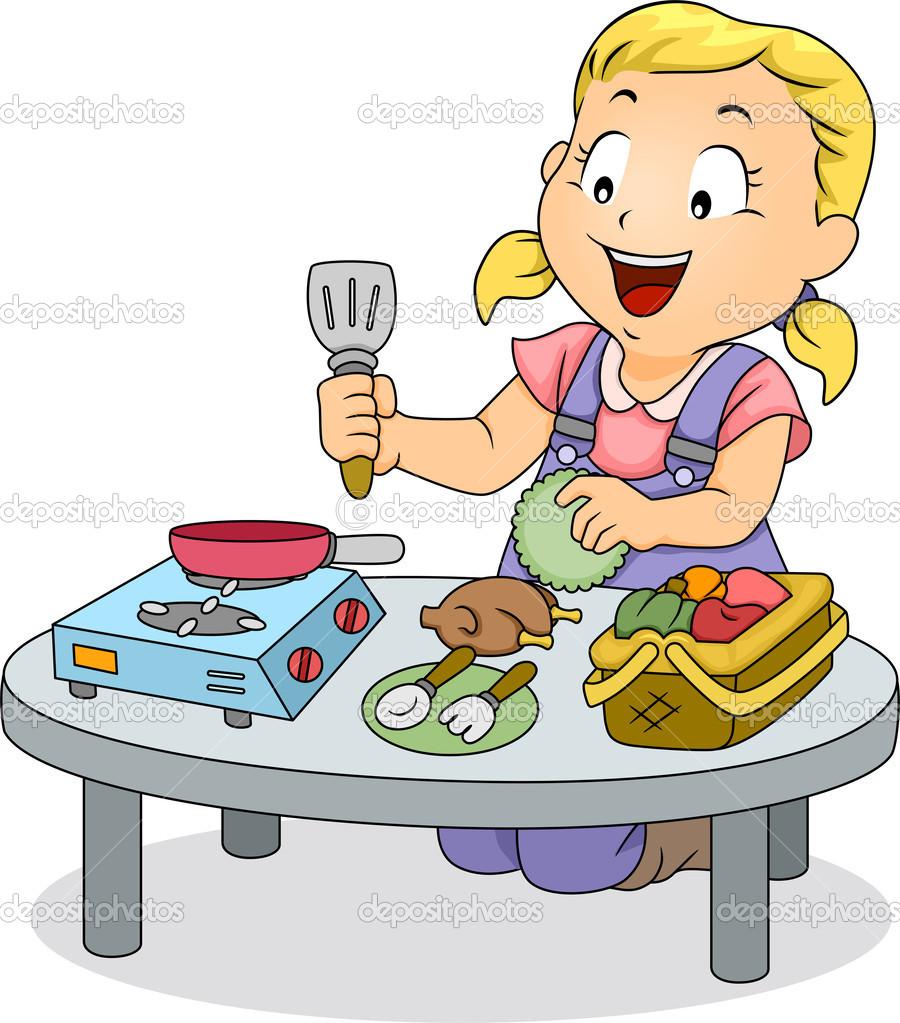 nia nio jugando con juguetes de cocina u fotos de stock