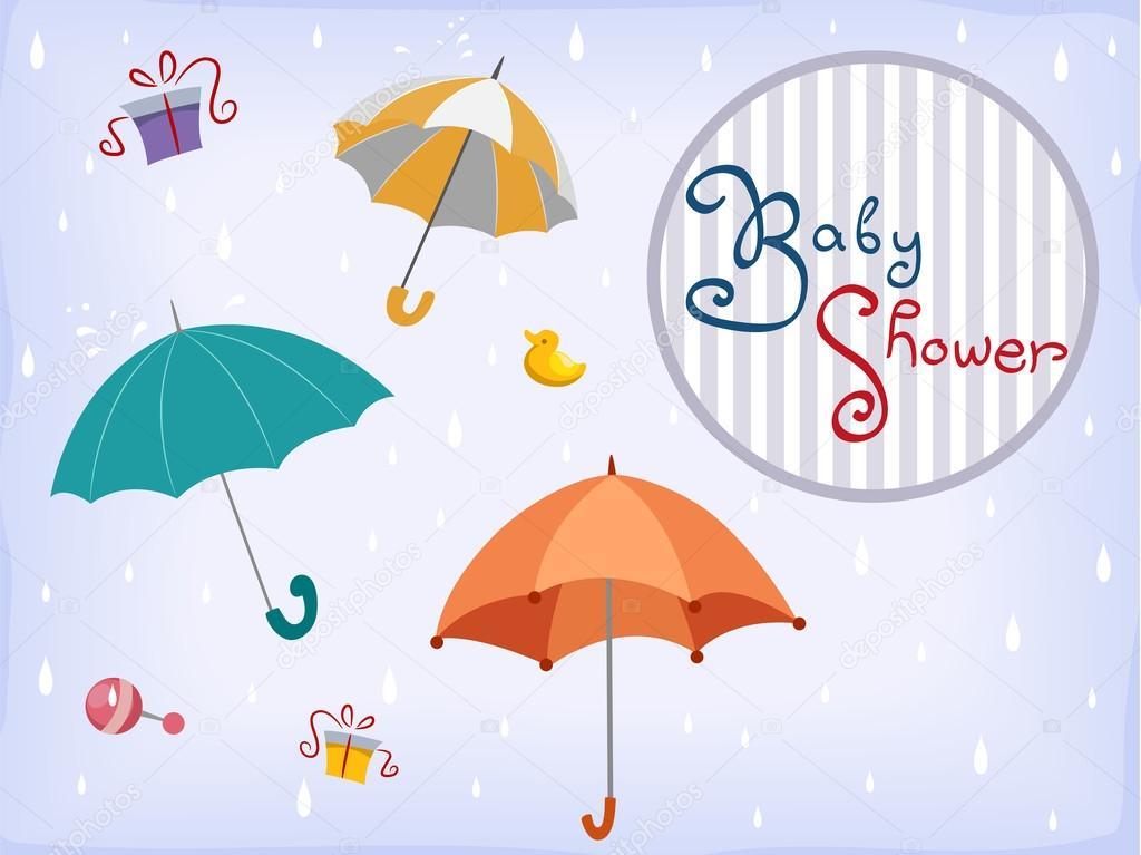 Baby Shower Invitation Card Design 2 Stock Photo C Lenmdp 32058223